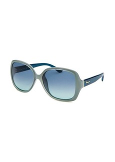 Salvatore Ferragamo Women's Square Power Blue Sunglasses