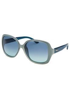 Salvatore Ferragamo Women's Square Power Blue Sunglasses