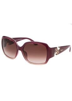 Salvatore Ferragamo Women's Square Purple Sunglasses
