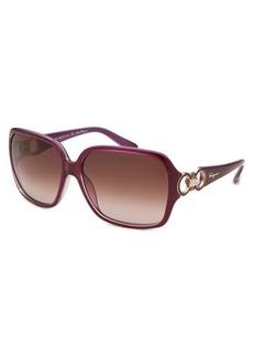 Salvatore Ferragamo Women's Square Purple Sunglasses Purple Lens