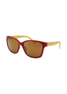Salvatore Ferragamo Women's Square Red Sunglasses