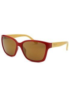 Salvatore Ferragamo Women's Square Red Sunglasses