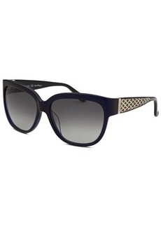 Salvatore Ferragamo Women's Square Translucent Blue Sunglasses