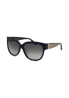 Salvatore Ferragamo Women's Square Translucent Blue Sunglasses