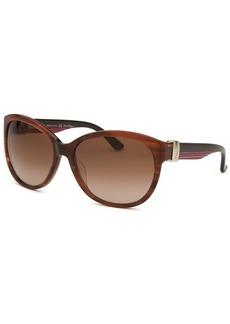 Salvatore Ferragamo Women's Wayfarer Brown Sunglasses