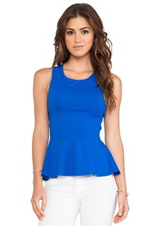 Susana Monaco Zoe Cross Back Tank in Blue