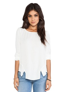 Ella Moss Stella Flared Top in White