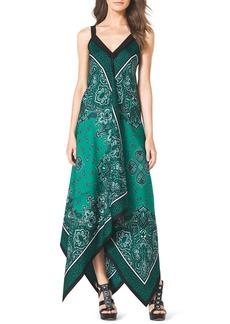 MICHAEL Michael Kors Scarf-Print Silk Dress