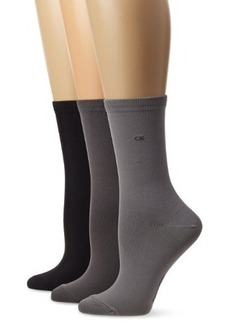 Calvin Klein Women's 3 Pack Tactel Crew Socks