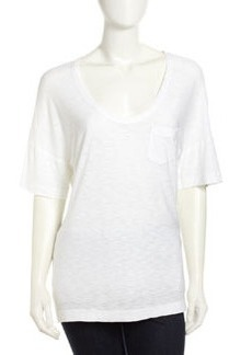 James Perse Slouchy Pocket Tee, White