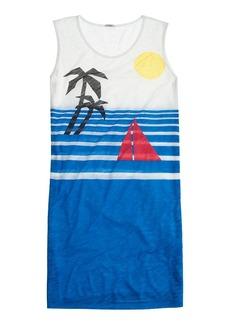 Beach scene tank dress