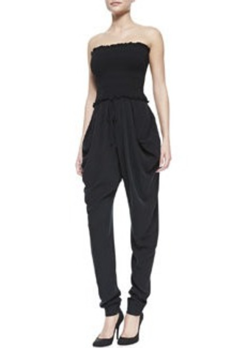 Silk Strapless Slouchy Jumpsuit   Silk Strapless Slouchy Jumpsuit