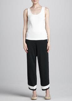 Joan Vass Cropped Pants, Women's