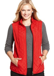 Charter Club Plus Size Reversible Quilted Vest