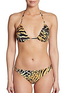 Natori Animal-Print Triangle Bikini Top