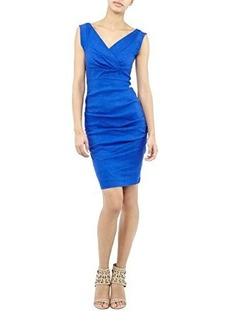 Nicole Miller Women's Andrea Stretch Linen Dress