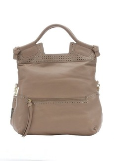 Foley + Corinna almond leather studded 'Moto Mid City' convertible tote bag