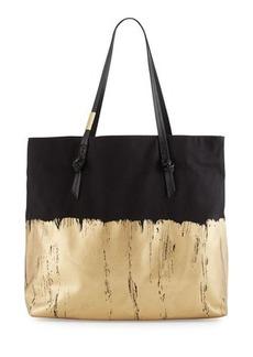 Foley + Corinna Apollo Metallic Canvas Tote Bag