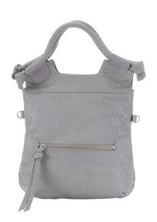Foley + Corinna ash snakeskin embossed leather 'Disco City' shoulder bag