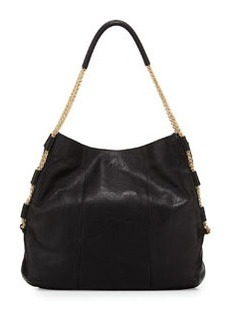 Foley + Corinna Astor Chain-Detail Hobo Bag, Black