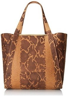 Foley + Corinna Barred SN Tote,Tawny Snake,One Size