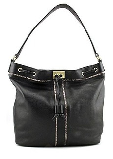 Foley + Corinna Becker Shoulder Bag,Black/Serpentine,One Size