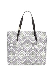 Foley + Corinna Bevin Knotted Printed Canvas Beach Tote Bag