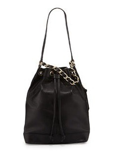 Foley + Corinna Billy Leather Bucket Shoulder Bag, Black