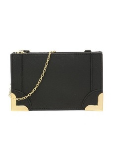 Foley + Corinna black grained leather 'Framed Petite' crossbody bag