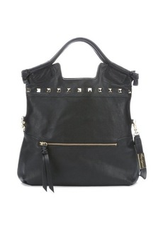 Foley + Corinna black leather 'Embellished Mid City' convertible hobo bag