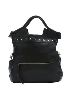 Foley + Corinna black leather 'Embellished Mid City' convertible tote bag