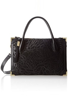 Foley + Corinna Botanica Framed Satchel,Black,One Size