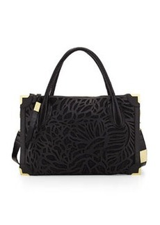 Foley + Corinna Botanica Tumbled Leather Satchel Bag, Black