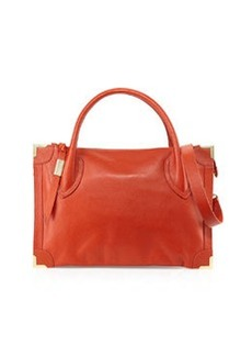 Foley + Corinna Botanica Tumbled Leather Satchel Bag, Spice
