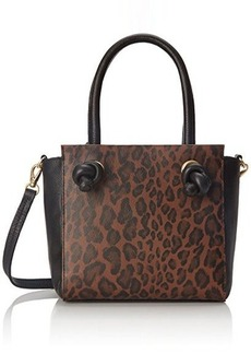 Foley + Corinna Bretta Mini Satchel Cross Body Bag, Brown Leopard, One Size