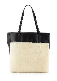 Foley + Corinna Cable Shearling Leather Tote Bag