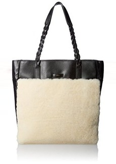 Foley + Corinna Cable Tote Travel Tote, Shearling Combo, One Size
