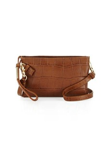 Foley + Corinna Cache Crocodile-Embossed Leather Crossbody Bag