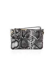 Foley + Corinna Cache Leather Crossbody/Wristlet, Black/White