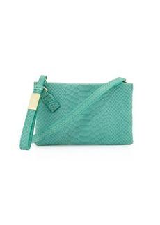Foley + Corinna Cache Snake-Embossed Leather Crossbody Bag