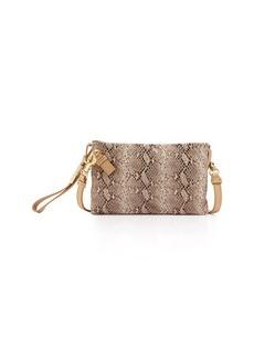 Foley + Corinna Cache Snake-Print Leather Crossbody Bag