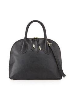 Foley + Corinna Cassis Leather Satchel Bag, Black