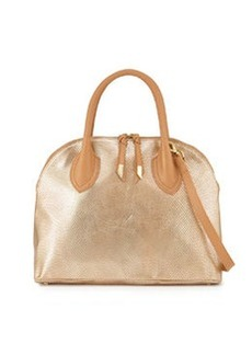 Foley + Corinna Cassis Leather Satchel Bag, Gold Dust