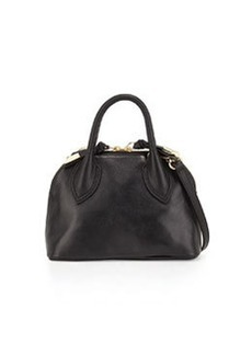 Foley + Corinna Cassis Mini Leather Satchel Bag, Black