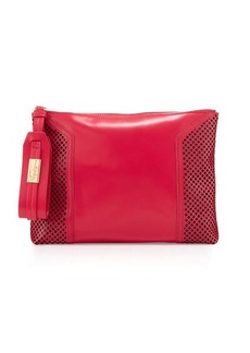 Foley + Corinna Clio Laser-Cut Leather Clutch Bag