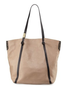Foley + Corinna Contrast-Trim Leather Tote Bag