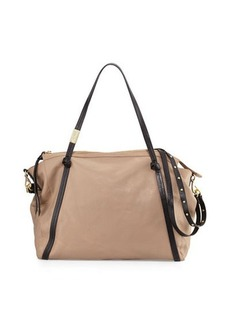 Foley + Corinna Contrast Zip-Top Satchel Bag
