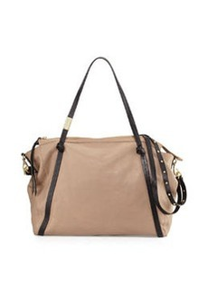 Foley + Corinna Contrast Zip-Top Satchel Bag, Putty/Black