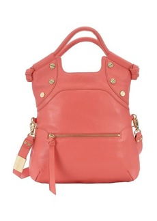 Foley + Corinna coral leather 'FC Lady' large convertible tote
