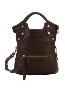 Foley + Corinna dark brown leather 'FC Lady' convertible tote